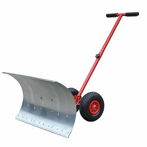 New-Year-Sale-Rolling-Snow-Shovel-Snow-Plow-Snowplough-Rotatable-Steel-Blade