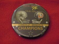 1978 Dallas Cowboys vs Denver Broncos Super Bowl XII Hat Pin Button