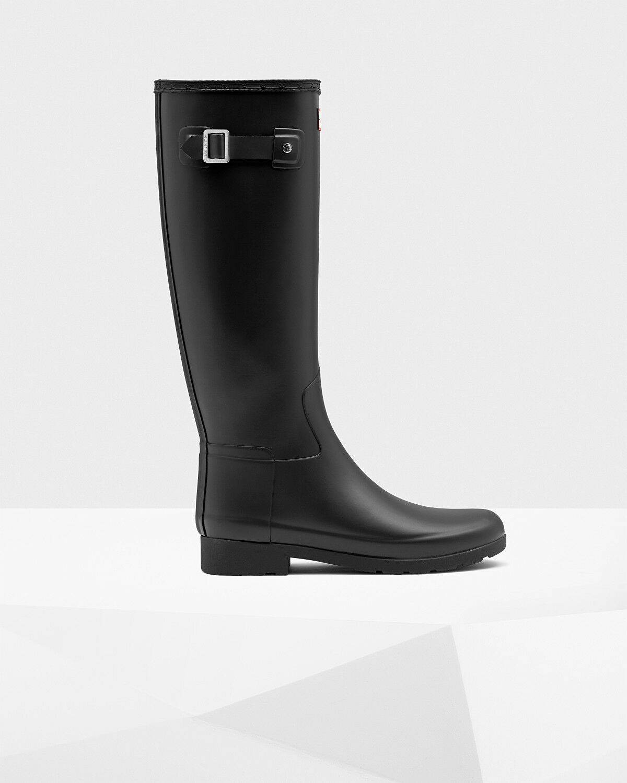 Hunter Damens's original refined schwarz, rain Stiefel: schwarz, refined Größe 8 6ebb85