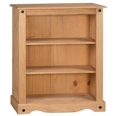 Corona Bookcase 2 Shelf Small Low Storage Living Room Pine by Mercers Furniture®