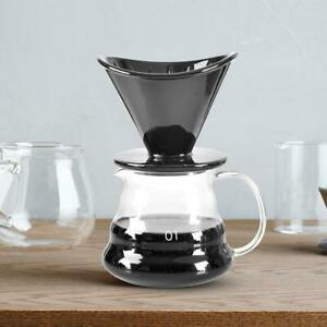 Ceramic-Pour-Over-Drop-Dripper-Reusable-Coffee-Filter-With-Cup-Stand-Conical