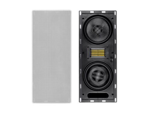 6.5-inch Carbon Fiber 3-way In-Wall Column Speaker with Ribbon Tweeter