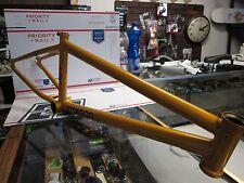 "FIT BMX bike FRAME MAC3 freestyle Fit 21"" TT 5.25lb BURNT ORANGE CULT GT S&M new"