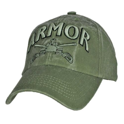 US ARMY ARMOR U.S Army Tank OD Green Military Baseball Cap Hat