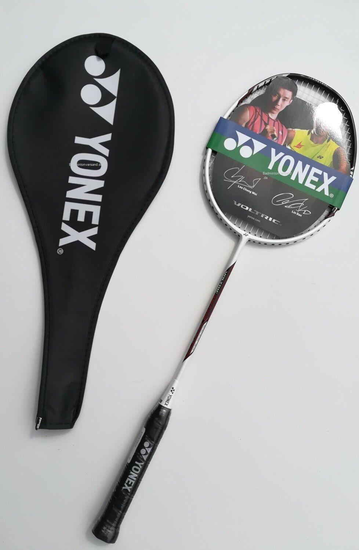 Yonex Badmintonschläger Voltric Power Soar Weiß mit Hülle