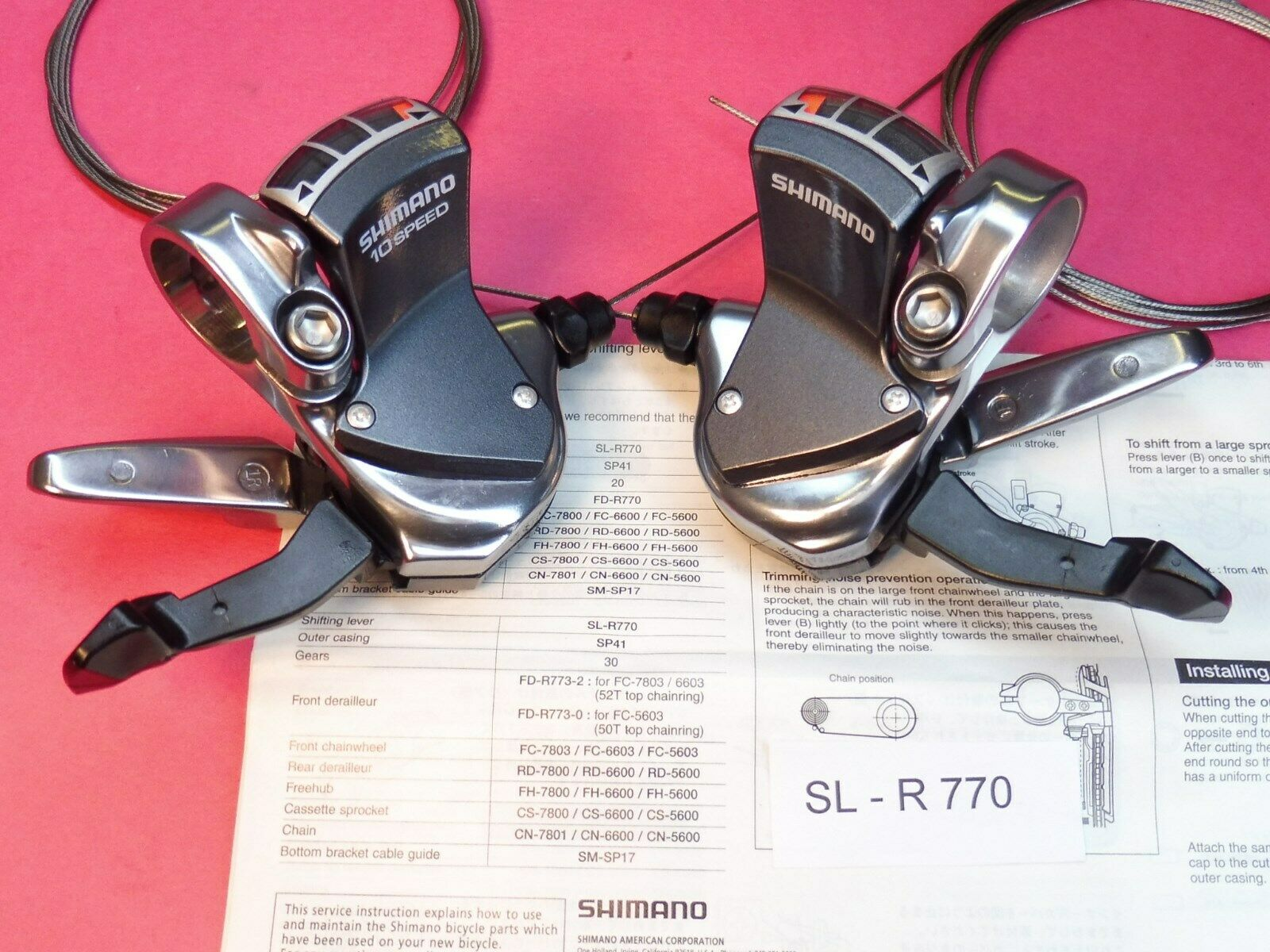 Shimano  SL R770 10 speed flatbar Shift Lever Set-Numbers  factory outlets