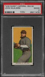 1909-11 T206 John McAleese Sweet Caporal 350 St. Louis PSA 2 GD
