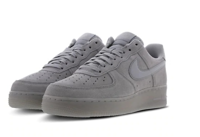 Details about Nike Air Force 1 Low Grey Suede Reflective Men Trainers All Sizes Limited Stock