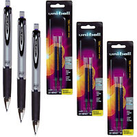 Uni-ball Signo Impact 207 Rt 65871 With Refills 65874, Blue Gel Ink, 1.0mm Bold