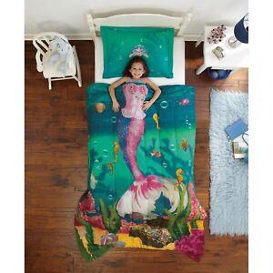 Kids-Comforter-Sets-For-Girls-Ocean-Themed-Bedding-Sea-Princess-Mermaid-Twin