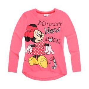 DISNEY-t-shirt-MINNIE-6-ou-8-ans-rose-manches-longues-haut-NEUF