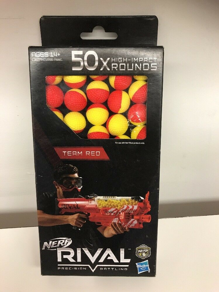 Nerf Rival 50x High-Impact Rounds-Brand New New New Factory Sealed Red And Yellow b92195
