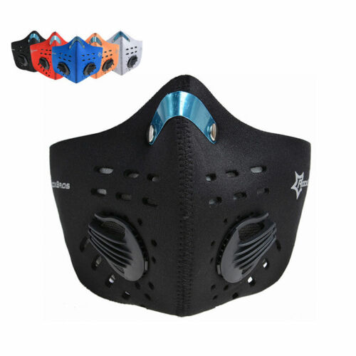 RockBros Cycling Outdoor Anti-dust Half Face Mask Filter Neoprene valve One Size