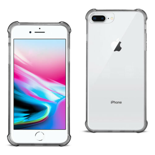 Reiko iPhone 8 Plus Clear Bumper Case With Air Cushion Protection In Clear Black