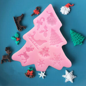 Tools-Chocolate-Christmas-Baking-Mould-Mold-Cake-Fondant-Decorating-Silicone