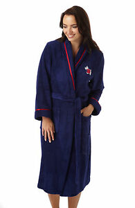 Ladies-Supersoft-Fleece-Navy-Red-Scottie-Dog-Embroidered-Dressing-Gown-S-M-L