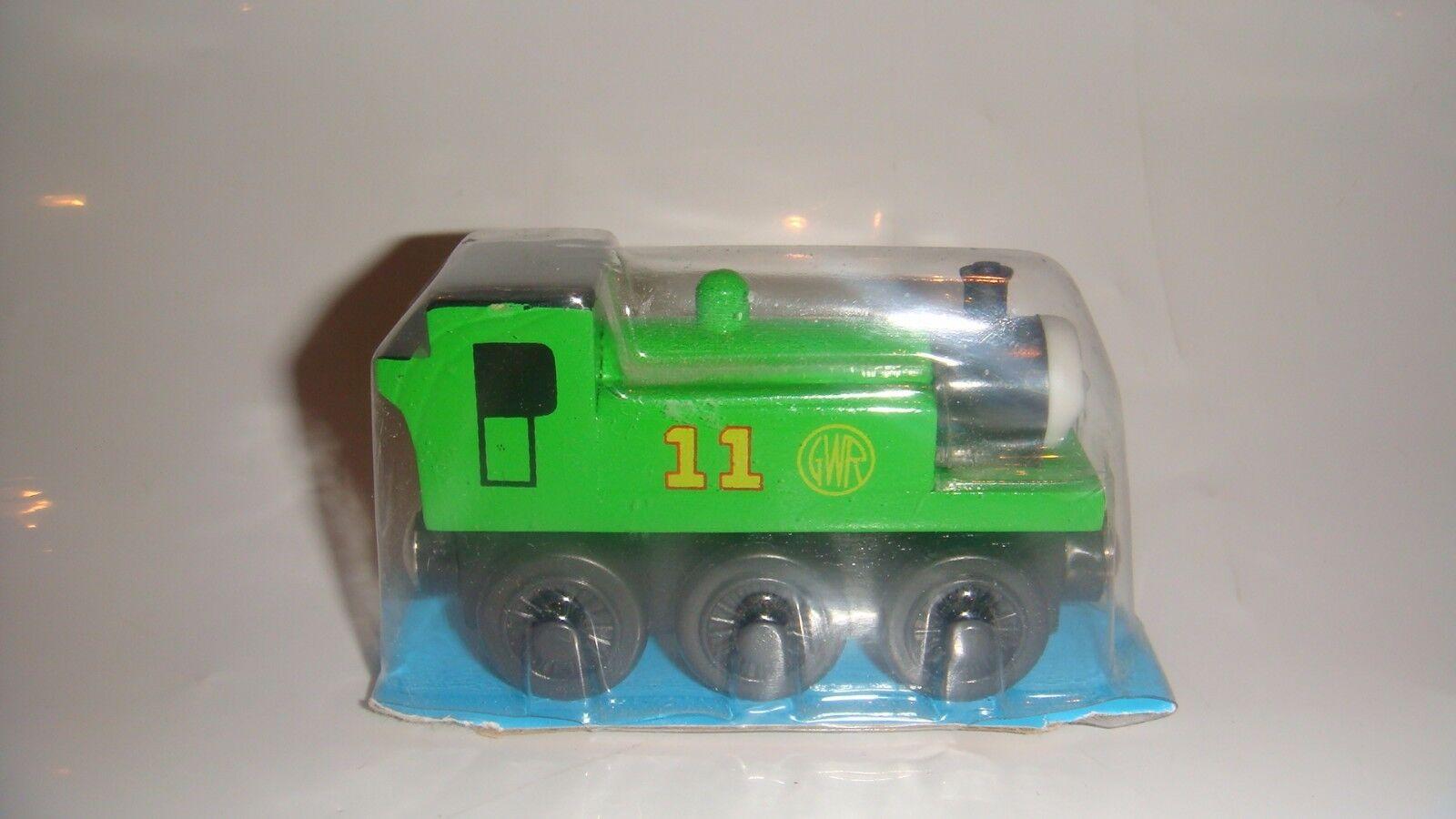 OLIVER WITH schwarz WHEELS TRAIN THOMAS & FRIENDS WOODEN RAILWAY TORN PACKAGING