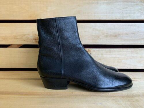 Maison Margiela Black Men Leather Zip Boots Sz. 41