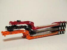 3 DCP 1/64 SCALE BLACK ORANGE RED  FONTAINE TRIAXLE LOWBOY TRAILERS DETACHABLE