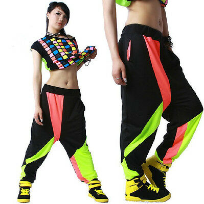 New Loose Harem Hip Hop dance pants Panelled Spliced sports Costume sweatpant