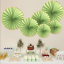 thumbnail 62 - Pinwheel Cut Out Wall Paper Fans Wedding Birthday Party Decoration Baby Shower