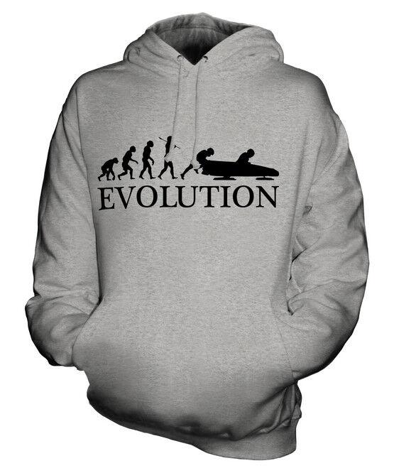 BOBSLEIGH EVOLUTION OF MAN UNISEX HOODIE  Herren Damenschuhe LADIES GIFT CLOTHING SLED