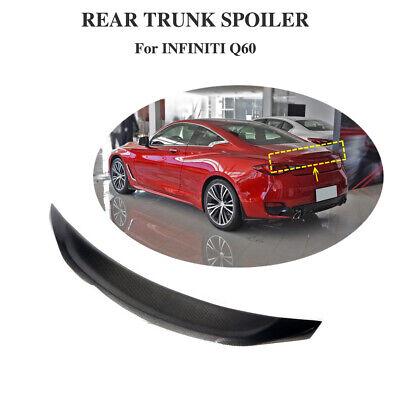 Fits Infiniti Q60 2016 2019 Rear Trunk Boot Spoiler Tail Wing Lip Carbon Fiber Ebay
