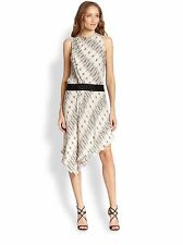 Haute Hippie  Silk Studded White Tank Dress with Black Suede Belt - size US 8