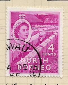 British North Borneo 1954-57 Early Issue Fine Used 4c. 069974