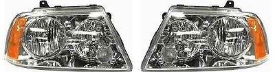 Lincoln Navigator 03-06 Pair Set Left & Right Headlights Headlamps Halogen