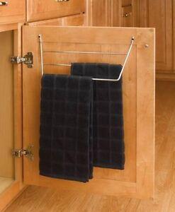 Door Storage 3 Rack Dish Towel Holder