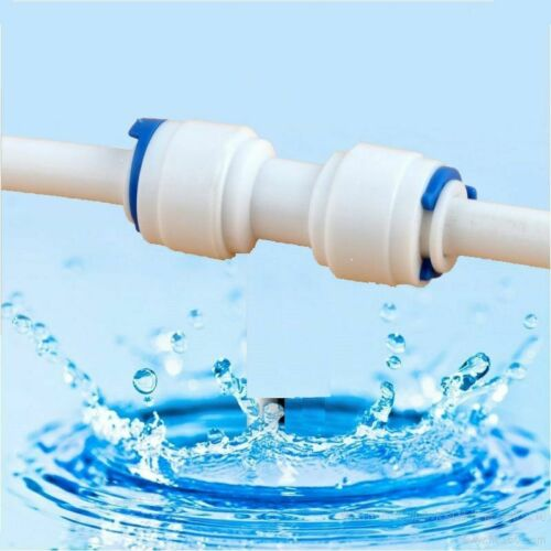 """1//4/"""" 3//8/"""" Hose Connection Coupling Plastic Quick Pipe Reverse Osmosis Connector"""