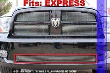 GTG 2009 - 2012 Dodge Ram Express 1500 1PC Polished Overlay Bumper Billet Grille