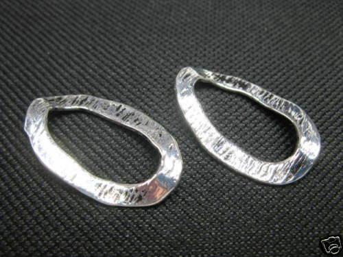 Anillo de metal//montaje ring 30x18mm plata de colores perlas nuevo beads 5515 k6