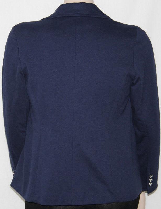 NEW Charter Club Plus 0X NAVY Long Sleeve Sleeve Sleeve Two Button Blazer e8a701