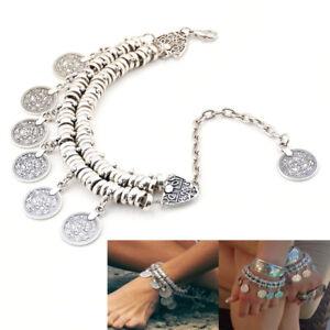 Bohemian-Gypsy-Beach-Bracelet-Anklet-Barefoot-Sandal-Beach-Ankle-Foot-Jewelry-zP