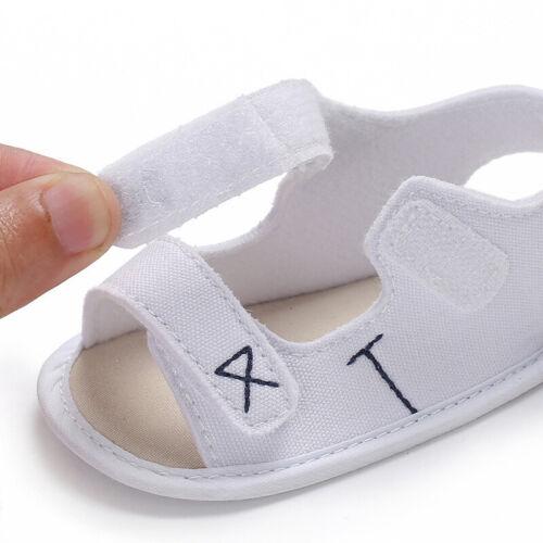 Baby Boys Girls Sandals Cavans Anti-Slip Soft Sole Infant Summer Outdoor Shoes