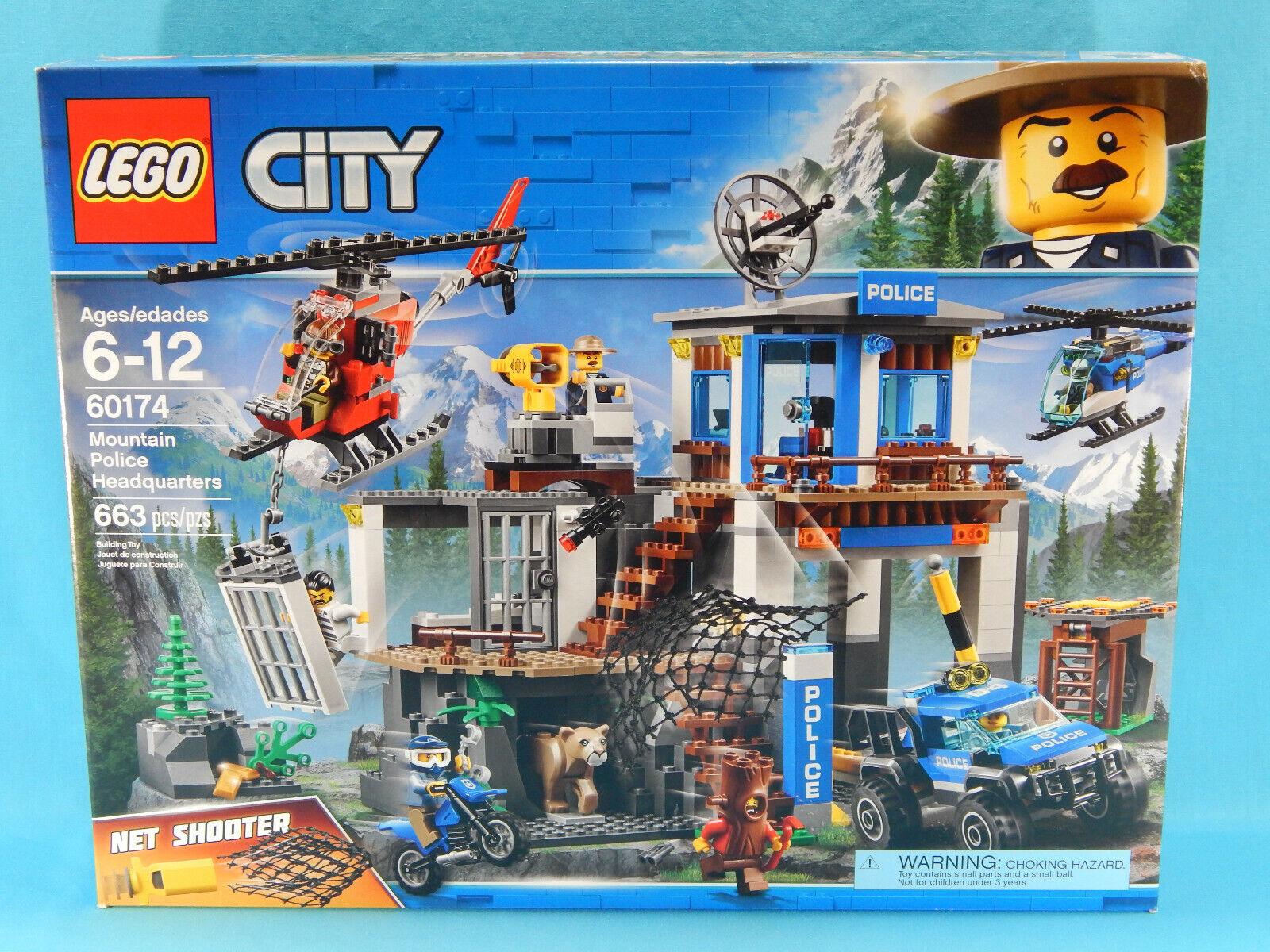 ordina ora con grande sconto e consegna gratuita Lego città 60174 Mountain polizia Headquarters Headquarters Headquarters 663pcs nuovo Sealed 2018  acquista online