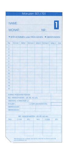 Business & Industrie Maruzen 501 100 Stck Zeiterfassung Karte ...