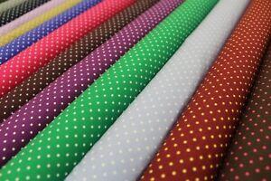 """A pois, piccola Spot, 100% di alta qualità in popeline di cotone, 12 colori, Largo 44"""","""