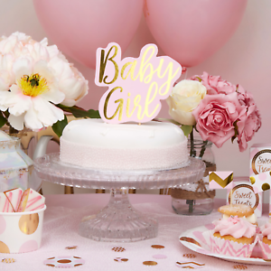 Baby Girl Baby Shower Cake Topper Pink And Gold Baby Shower