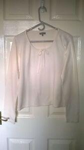 Ladies-M-amp-S-Per-Una-cream-jumper-long-sleeves-size-16