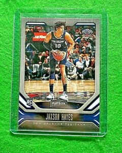 JAXSON-HAYES-ROOKIE-CARD-JERSEY-10-PELICANS-2019-20-PANINI-CHRONICLES-PLAYBOOK