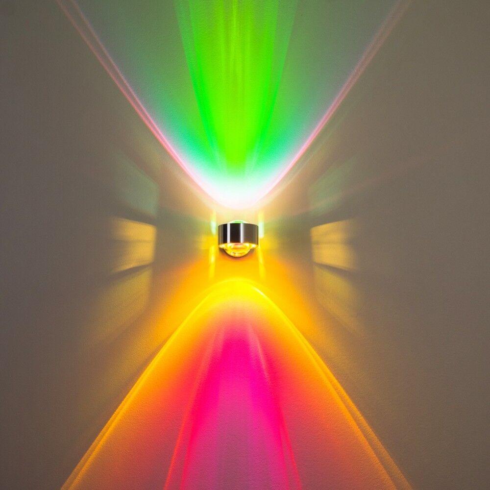 Flur Lampe Wohn Zimmer Leuchte Wandlampe Aluminium Küchen Strahler grün magenta | Neuer Eintrag