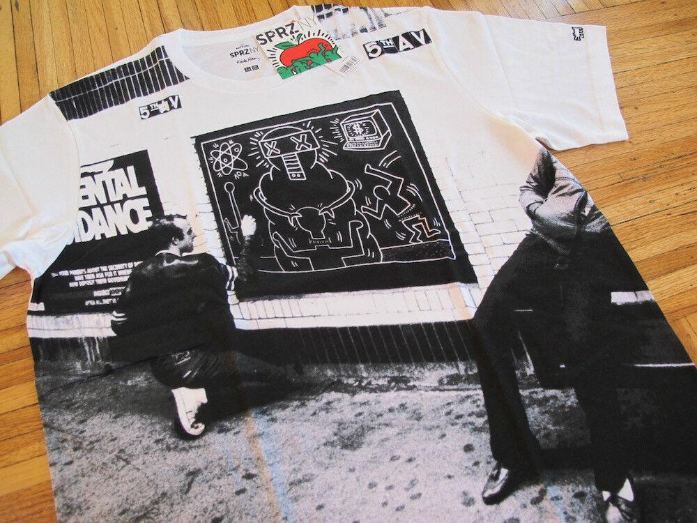 Uniqlo x Keith Haring t-shirt sz XL tee pop art graffiti new york subway nyc