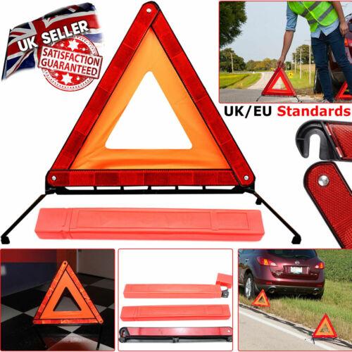 REFLECTIVE WARNING SIGN FORDABLE TRIANGLE CAR HAZARD BREAKDOWN EU EMERGENCY UK
