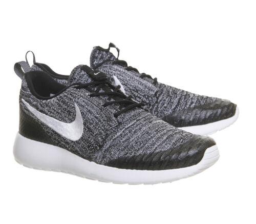 Black One Uk Cool Grey 010 White Trainers 5 6 Flyknit Nike 704927 Roshe v5SqwY