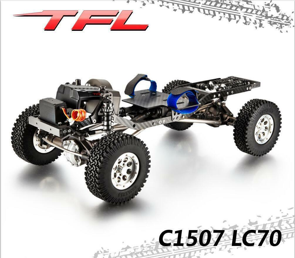 TFL 1/10 CNC RC Crawler Cars KIT Metal Chassis Model Hardbody Killwerbody LC70