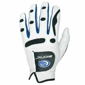 Bionic-Mens-PerformanceGrip-Orthopedic-Leather-Golf-Gloves-LH-White