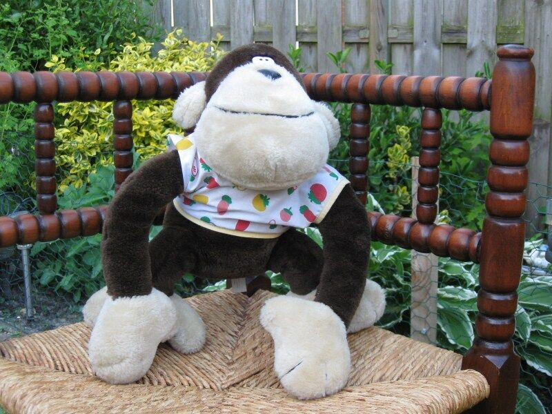 Vintage Monkey Stuffed Toy Free & Easy Amsterdam Made for